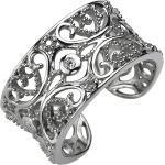 JOBO Fingerring, offen 925 Silber mit 3 Zirkonia