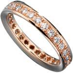 JOBO Memory-Ring 585 Gold Rotgold mit Diamant-Brillanten 0,75ct. Größe 54