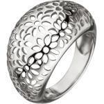 JOBO Silberring »Blumen«, breit 925 Silber