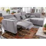 Jockenhöfer Gruppe Ecksofa, inklusive Relax- und Armlehnfunktion grau Ecksofa Sofas Couches Möbel sofort lieferbar