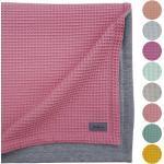 JOLLAA Babydecke »Waffelstoff Waffelpiqué«, Kinderwagendecke 100 x 70 cm Baumwolle MADE IN EUROPA, rosa, OLD-ROSE