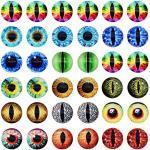 Julie Wang 180pcs Mixed Size Drachenaugen Glas Cabochon Augen für Tonpuppen Herstellung von Skulpturen Requisiten Handwerk DIY Fundstücke Schmuckherstellung 6mm-30mm E