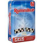 Jumbo Spiele JUM03817 Original Rummikub Kompakt in Metalldose Gesellschaftsspiel, Ab 7 Jahren