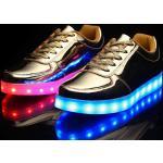 Jungen und Mädchen Turnschuhe LED leuchtende Schuhe USB-Ladepu rutschfeste Schnellladung LED-Schuhe kleine Kinder (4-7 Jahre) große Kinder (7 Jahre ) Weihnachten Neujahr Laufschuhe Silber Gold Weiß Lightinthebox