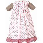 Käthe Kruse 54652 - Kleid mit Unterrock 52-56 cm, weiß/rot