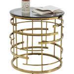 Kare-Design BEISTELLTISCH rund Gold, Metall, 55x55 cm