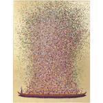 Kare-Design BILD , Rosa, Gold, Bordeaux , Fichte , massiv , rechteckig , 80x100x3.5 cm , handgemalt , Bilder, Gerahmte Bilder
