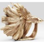 Kare Design Deko Objekt Betta Fish Gold Klein