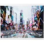KARE DESIGN Glasbild 120 x 160 cm Times Square Move Glas Bunt