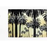 KARE DESIGN Glasbild 180 x 120 Metallic Palms 61574 Glas Gold