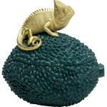 KARE Kiste »Deko Dose Chameleon 20cm«, blau