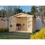KARIBU WOODFEELING Gartenhaus Carlton 3 19 mm naturbelassen