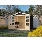 KARIBU WOODFEELING Gartenhaus Carlton 3 19 mm terragrau