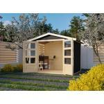 KARIBU WOODFEELING Gartenhaus Carlton 4 19 mm terragrau