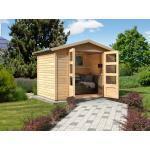 KARIBU WOODFEELING Gartenhaus Carlton 5 19 mm naturbelassen