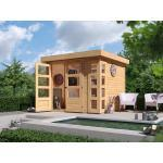 KARIBU WOODFEELING Gartenhaus Kerko 3 19 mm naturbelassen