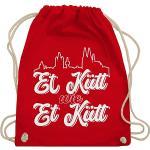 Karneval & Fasching Kostüm Outfit Et Kütt Wie Et Kütt Weiß Köln Silhouette Turnbeutel Jungen rot Kinder