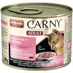 Katzenfutter nass animonda Carny Adult Rind, Pute + Shrimps 1 Pack 6x200 g