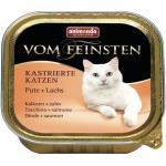 Katzenfutter nass animonda vom Feinsten für kastrierte Katzen Pute + Lachs 1 Pack 32x100 g