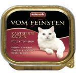Katzenfutter nass animonda vom Feinsten für kastrierte Katzen Pute + Tomaten 1 Pack 32x100 g