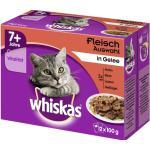Katzenfutter nass Whiskas 7+ Fleischauswahl 4 Pack 12x100 g