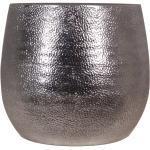 Keramik-Übertopf Hammerschlag Ø 34 cm x 31 cm Silber
