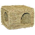 Kerbl Grashaus XL (für Kaninchen / Nagetiere, natürlich getrocknetes Gras, für den Verzehr geeignet, frei von Draht-/Kunststoffteilen, 37x30x28 cm) 82789