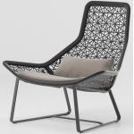 Kettal - Maia Relaxsessel - grau, Kunststoff - 105x99x90 cm - mangangrau - mangangrau/ kastanienbraun