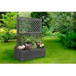 KHW Spalier, mit Pflanzkasten, BxTxH: 100x43x140 cm schwarz Spaliere Gartendekoration Gartenmöbel Gartendeko Spalier