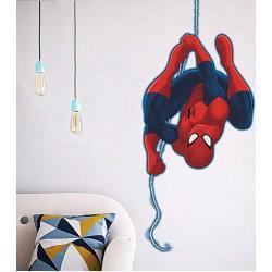 Kibi 3D-effekt Aufkleber Spiderman im Wanddurchbruch Loch Marvel's Spider-Man Ultimate Wandtattoo Kinderzimmer Spiderman Wandsticker Spiderman Wandaufkleber Spiderman