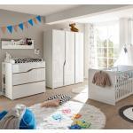 Kids Club Collection Kinderkleiderschrank Mara I Weiß 145x197x56 cm (BxHxT) Spanplatte