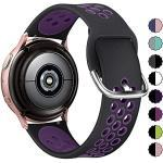 KIMILAR Armband Kompatibel mit Samsung Galaxy Watch 3 41mm/Watch 42mm/Watch Active/Active 2 (40mm/44mm) Silikon Armbänder Kompatibel mit Garmin Vivoactive 3/Forerunner 645/245/Vivomove HR Sport -S