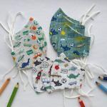 Kinder Behelf-Mund-Nasen-Schutz/Kindermaske Stoffmaske Kind Einschulung Geschenk Mit Gummi Für Mädchen Und Junge Schule