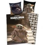 Kinder/Jugend Bettwäsche HERDING Star Wars The Mandalorian 44776 / 06.050 Wendebettwäsche 135x200cm + 80x80cm