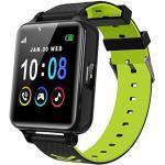 Kinder Smart Watch für Mädchen und Jungen mit Spielen Musik Player Kamera HD Touchscreen Anruf Telefon Uhr SOS Anruf Spiel Smartwatch für Kinder (Schwarz)