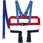 Kinderschutzgurt Kinderwagen Sicherheitsgurt Textil (blau/rot)