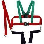 Kinderschutzgurt Kinderwagen Sicherheitsgurt Textil (grün/rot)