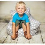 Kindersitzsack White Dots