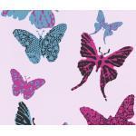 Kindertapete 93634-2 Boys & Girls 2018 Schmetterlinge rosa