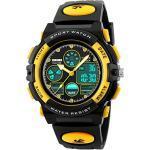 Kinderuhr für Jungen Digital Analog Sportuhr LED 5ATM Wasserdicht Wecker Coole Stoppuhr Elektronische Armbanduhr
