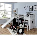 Kinderzimmer Bett im Piraten Look Rutsche und Vorhang