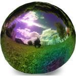 Kiom Dekoobjekt »Edelstahlkugel Dekokugel SferaInox 35 cm rainbow«