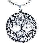 Silberne Skandinavische Kiss of Leather Keltische Ketten für Herren