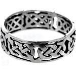 Kiss of Leather Silberring »Ring Fingerring Keltenknoten 925 Sterling Silber Gr. 46-74 keltische Knoten«, silberfarben