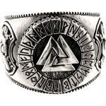 Kiss of Leather Silberring »Ring Wotansknoten Valknut Wotan Knoten aus 925 Sterling Silber, Gr. 52-74«, silberfarben