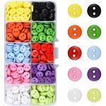 Kissral Bunte Knöpfe 750 Stück Rund Kunststoff Batelknöpfe Bunte Farblich gemischte Vorteilspackung zum Nähen, Basteln und Dekorieren