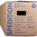 KK Verpackungen Aufbewahrungsbox (Spar-Set, 60 Stück, 60er-Set), Mehrweg-Umzugskisten 2-wellig Umzugskiste in Speditionsqualität 50kg Braun, 60 St.