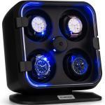 Klarstein Clover Uhrenbeweger | 4 Uhren | 3 Rotationen | 4 Geschwindigkeiten | blaue LED-Beleuchtung | Kunststoffgehäuse Clover Uhrenbeweger | 4 Aufnahmen für Armbänder von 15 - 20 cm Länge / bis zu 2,9 cm Breite | 3 Rotationsmodi & 4 Drehgeschwindigkeiten | TPD: 650 / 900 / 1200 / 1500 | blaue LED-Beleuchtung | Kunststoffgehäuse | transparente Acryltür