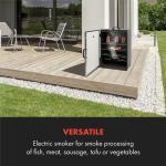 Klarstein Flintstone Steel Räucherofen 1600 W integriertes Thermometer Edelstahl