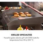 Klarstein Grillmeile 3000G Elektrogrill 3000W Grillplatte 54,5x35cm glatt